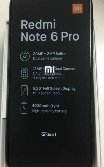 Bocoran Beberapa Spesifikasi Xiaomi Redmi 6 Pro