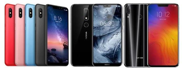 Xiaomi Redmi Note 6 Pro VS Nokia 6.1 Plus VS Lenovo Z5