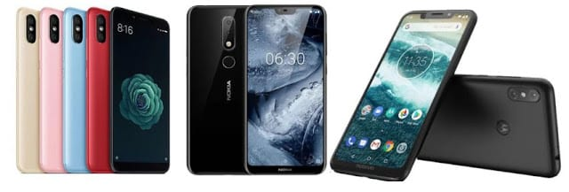 Perbandingan Spesifikasi Xiaomi Mi A2 vs Nokia 6.1 Plus vs Motorola One Power dan Harga