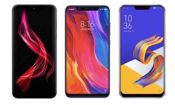 Sharp Aquos Zero vs Xiaomi Mi 8 vs Asus Zenfone 5z