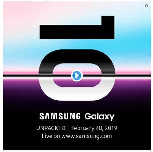 Samsung Galaxy S10  Akan diluncurkan Pada 20 Februari?