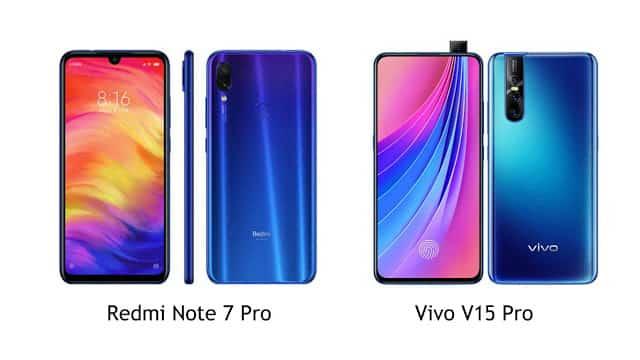 Perbandingan Spesifikasi Redmi Note 7 Pro dengan Vivo V15 Pro Handphone Kamera 48MP