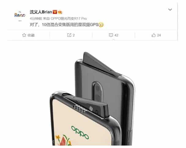 Oppo Reno Varian Tertinggi Didukung Dengan Snapdragon 855, 10x Hybrid Optical Zoom dan Dual-Frekuensi