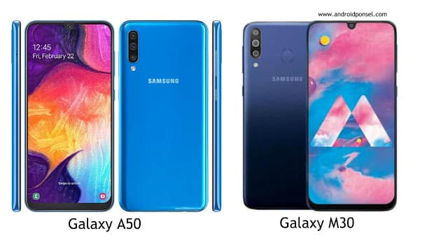 Perbandingan Samsung Galaxy A50 vs Galaxy M30