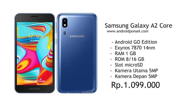 Harga Satu Jutaan, Samsung Galaxy A2 Core HP Android Go Edition