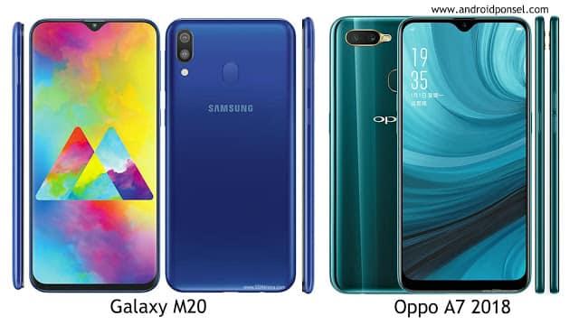 Perbandingan Samsung Galaxy M20 dengan Oppo A7 2018