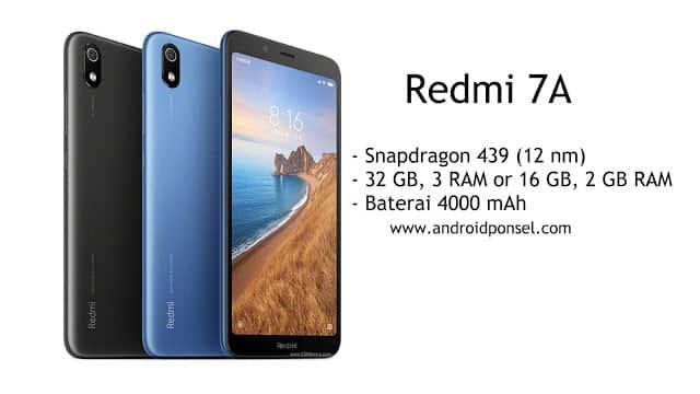 HP Redmi 7A Spesifikasi, Harga dan Ketersediaan