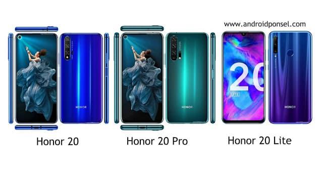 Perbedaan Spesifikasi Honor 20, Honor 20 Pro dan Honor 20 Lite