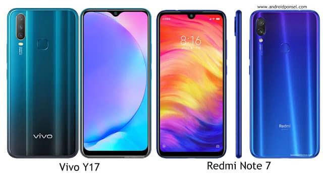 Perbandingan Spesifikasi Vivo Y17 dengan Redmi Note 7, Lengkap!