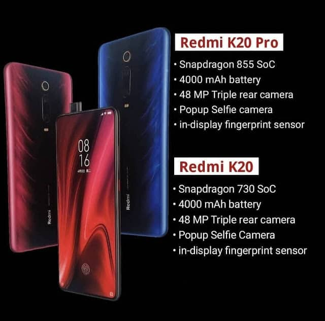 Redmi K20 dan K20 Pro Spesifikasi