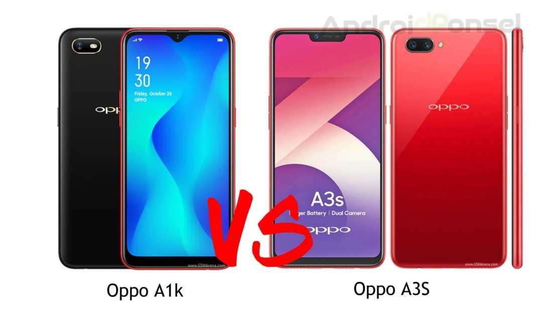 Oppo A1k vs A3S