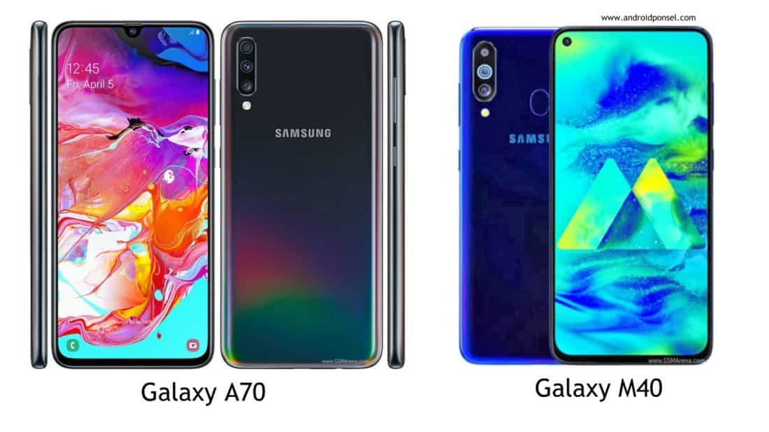Perbandingan galaxy A70 dan M40