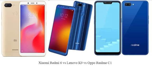 Xiaomi Redmi 6 VS Lenovo K9 VS Oppo Realme C1: Perbandingan Spesifikasi dan Harga