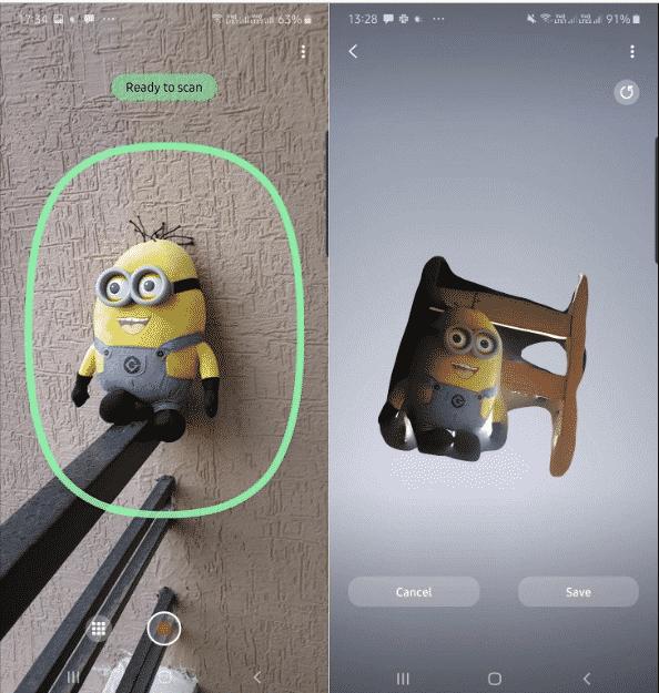Aplikasi 3D Scanner Samsung Galaxy Note 10+