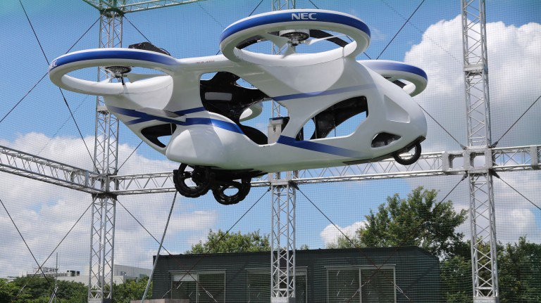 Mobil Terbang Masa Depan dari NEC Dilakukan Uji Coba