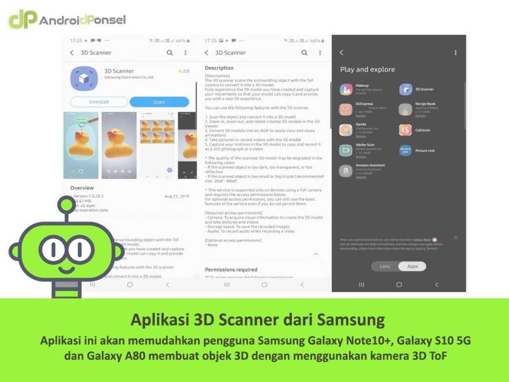Samsung Merilis Aplikasi 3D Scanner untuk Galaxy Note 10+