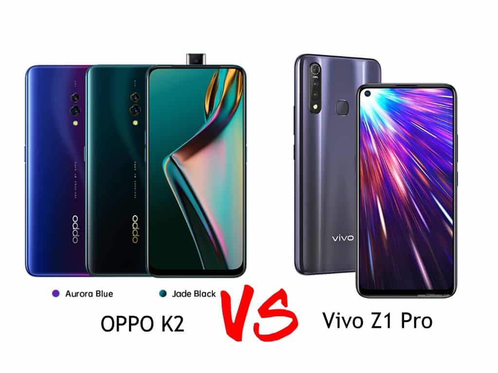 oppo k2 vs vivo z1 pro