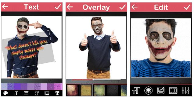 Aplikasi ubah wajah joker