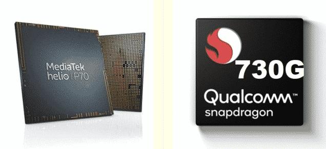 Snapdragon 730G 8nm vs Mediatek Helio P70 12nm