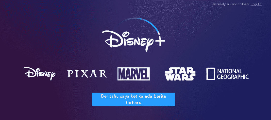 Disney Plus layanan video on demand