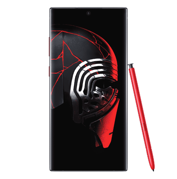 Tampilan depan Samsung Galaxy Note10 + Star Wars