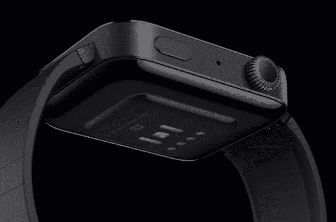Desain Xiaomi Mi Watch belakang