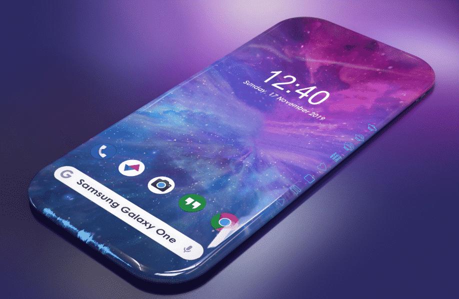 Render Samsung dengan layar Bulat
