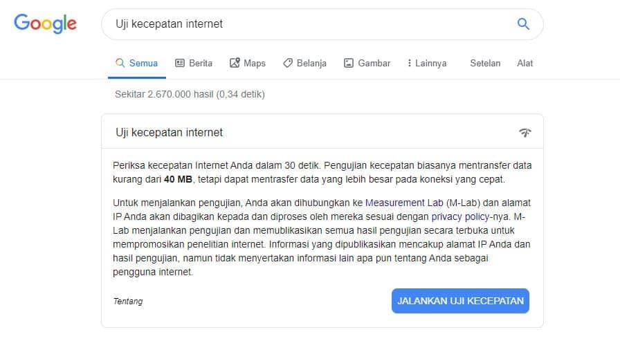 Test Speed Test Internet