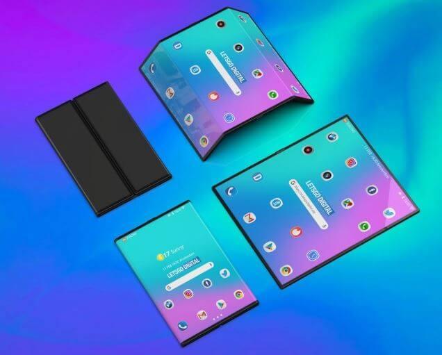 Xiaomi Patenkan Desain Ponsel Lipat Dengan Empat Kamera (image credit gsmarena)