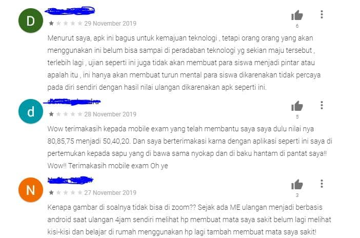 Mobile Exam komentar