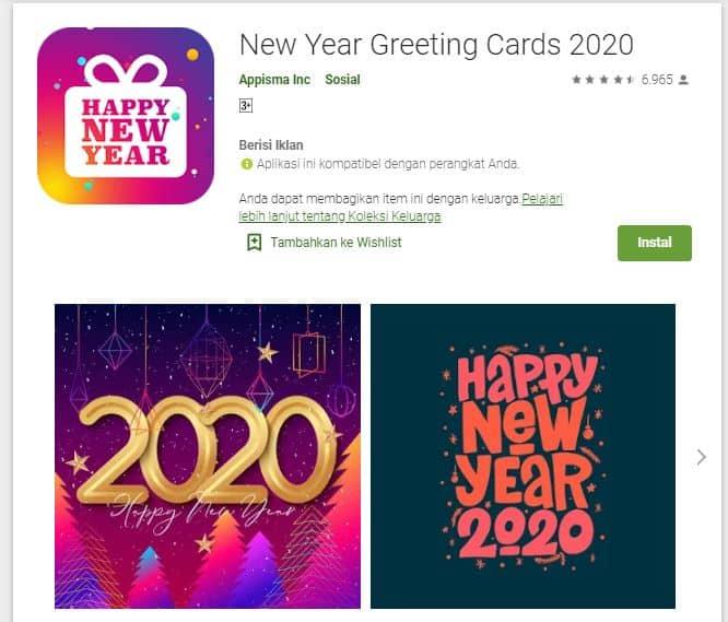 Aplikasi Membuat Kartu Ucapan Tahun Baru