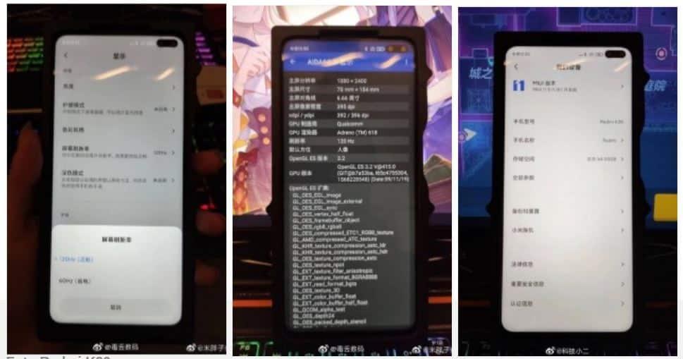 Redmi K30 menggunakan layar 120 Hz