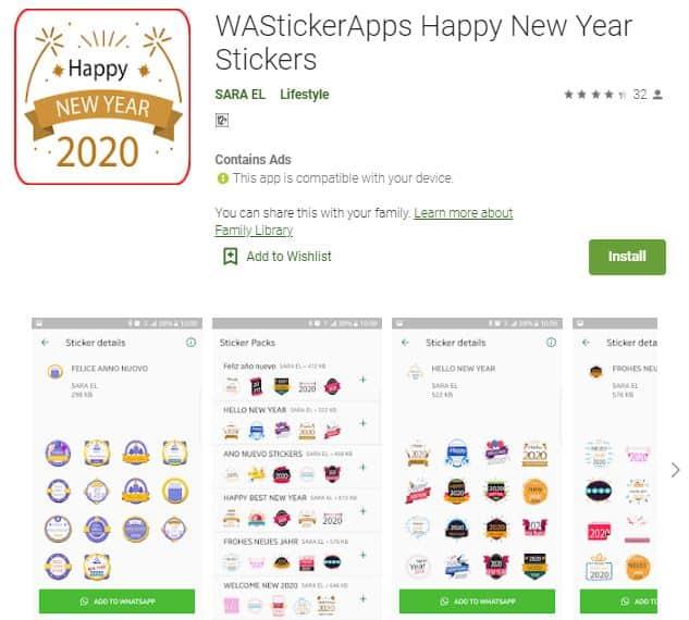 WAStickerApps Happy New Year Stickers