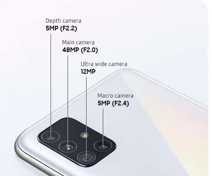 Konfigurasi Kamera Galaxy A51