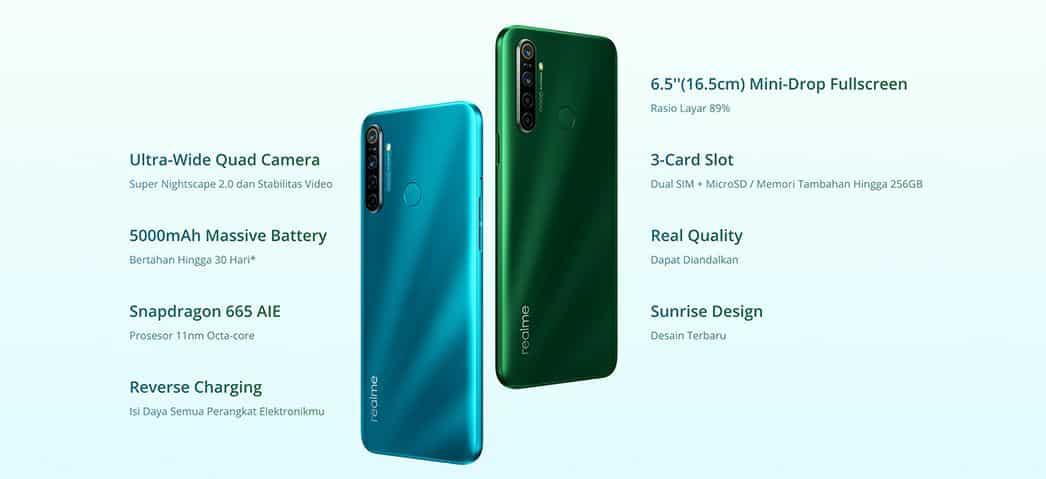 Realme 5i resmi hadir di Indonesia membawa chip Snapdragon 665