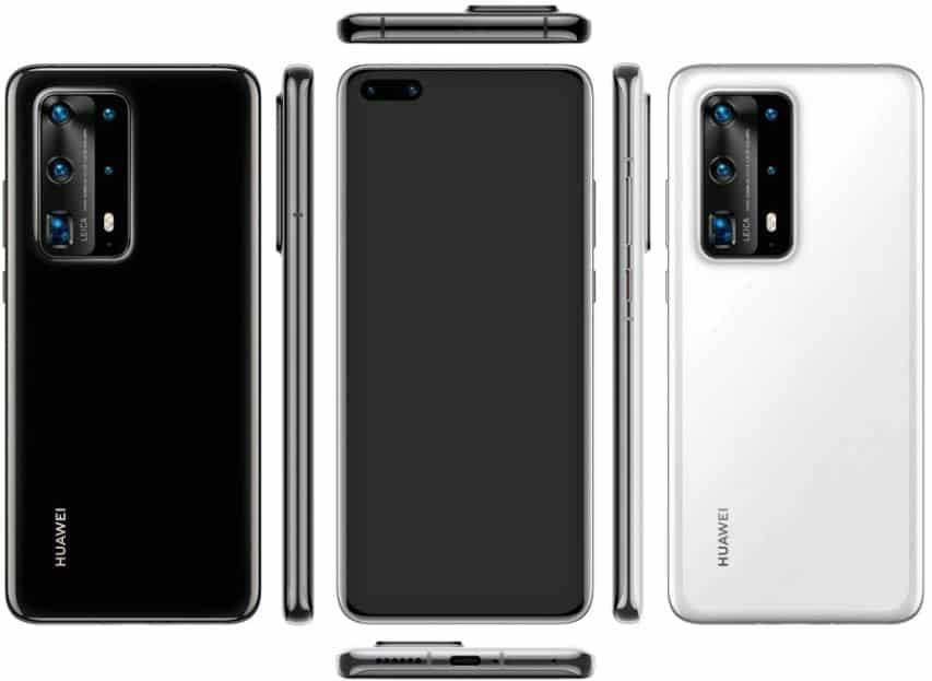 Render Huawei P40 Pro dengan Lima Kamera