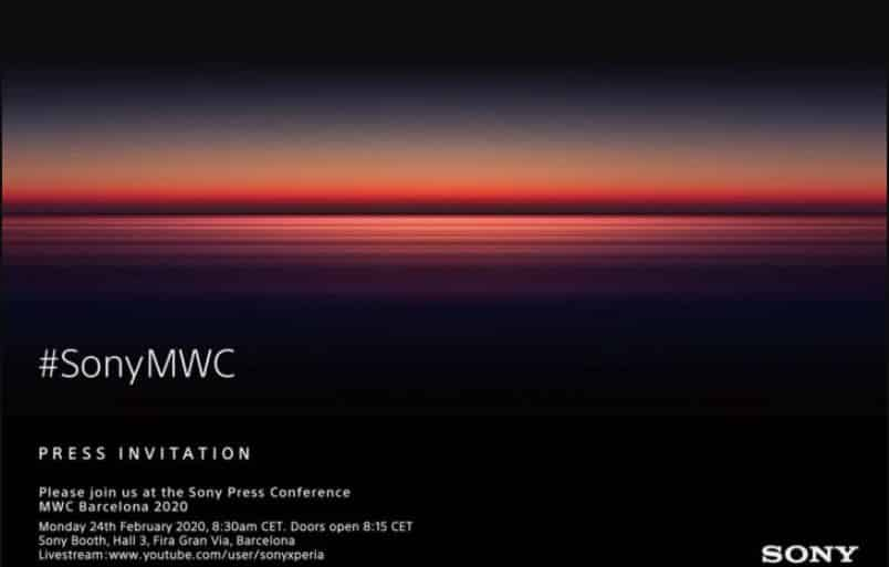 Undangan Media Peluncuran smartphone terbaru Sony di MWC 2020