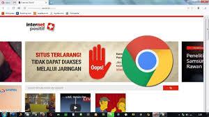 Cara membuka situs yang diblokir internet posistif di PC