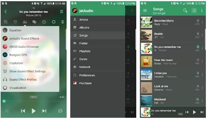 Aplikasi lirik musik Jet Player