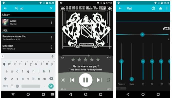 Aplikasi musik dan lirik Rocket Player
