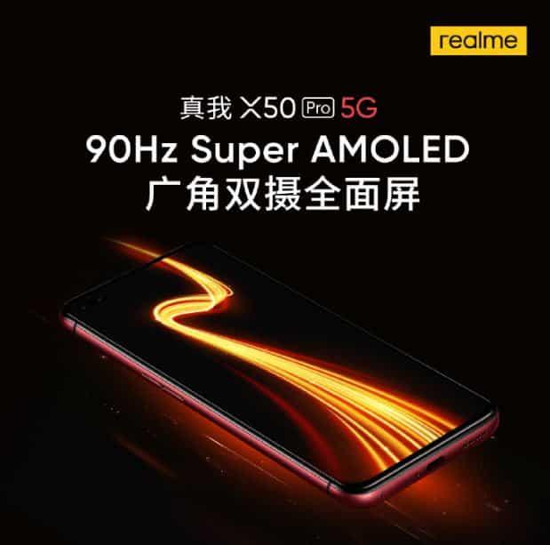 Flagship Realme X50 Pro 5G Akan Mengemas Super AMOLED dengan Refresh Rate 90hz