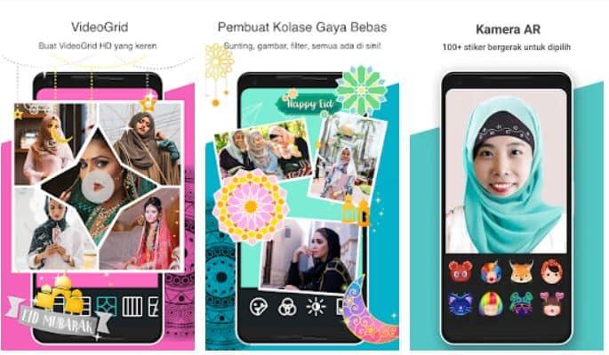 GAbungkan foto dengan aplikasi Photo Grid