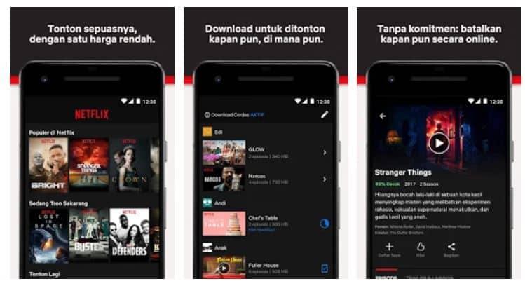 Netflix android dan iOS