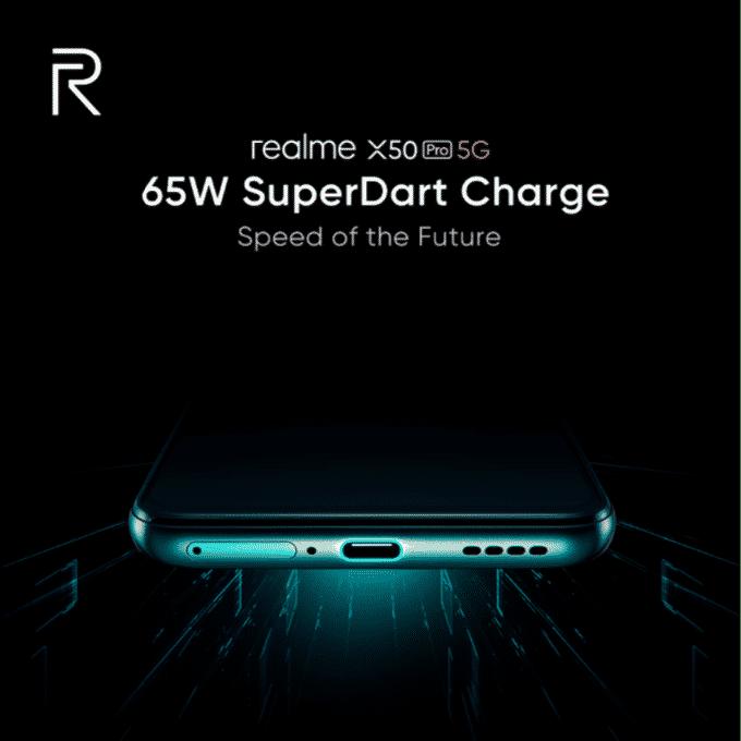 Realme 65w SuperDart Charge hadir di X50 Pro 5G