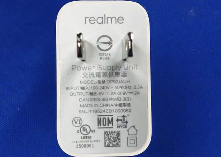 Realme 6i charger
