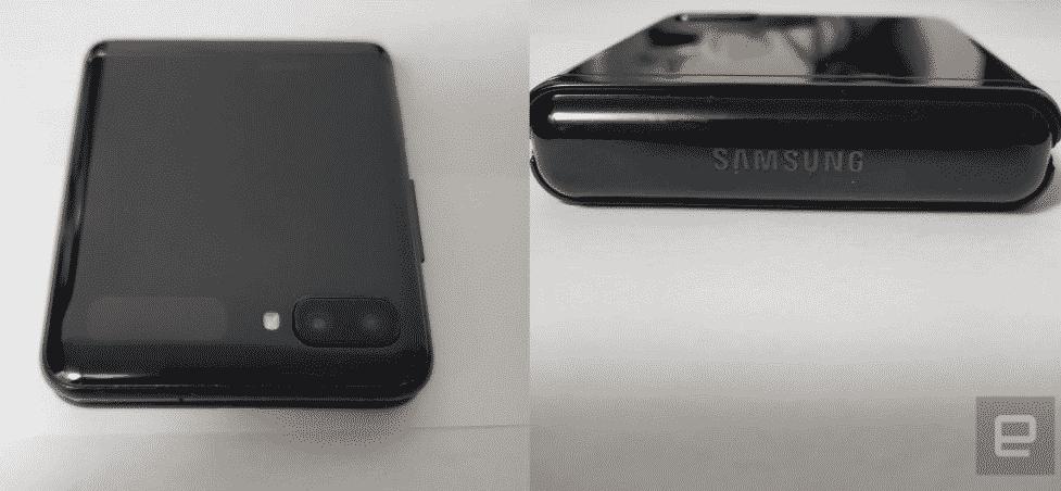 Samsung Galaxy Z Flip Ketika dilipat via Engadget