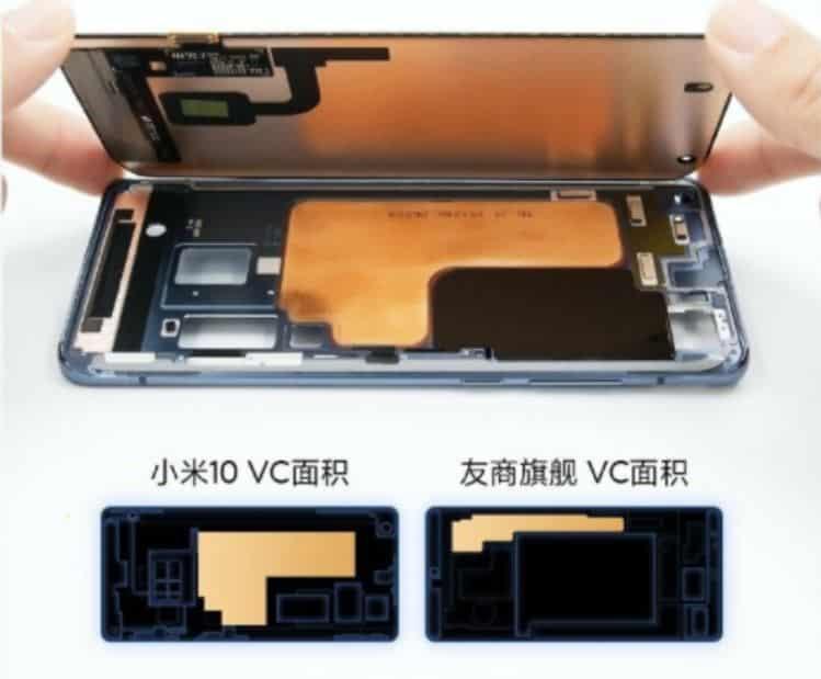 Sistem pendingin Xiaomi Mi 10 yang disandingkan dengan merek pesaing