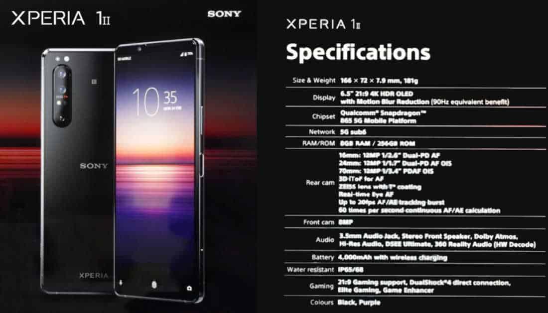 Spesifikasi Xperia 1 II bocor secara online