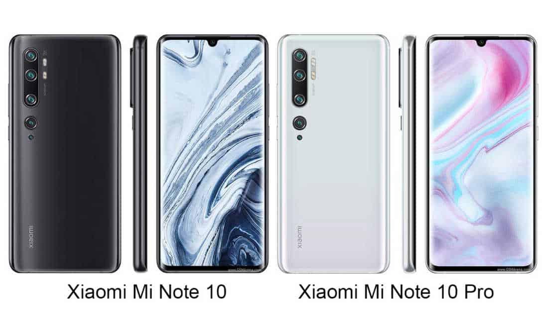 Xiaomi Mi Note 10 vs Mi Note 10 Pro