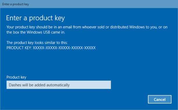 Kode aktivasi windows 10